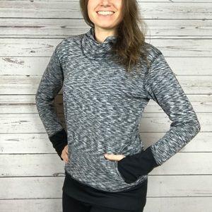 RBX Cozy Mock Turtleneck Thumbholes Sweatshirt -U4